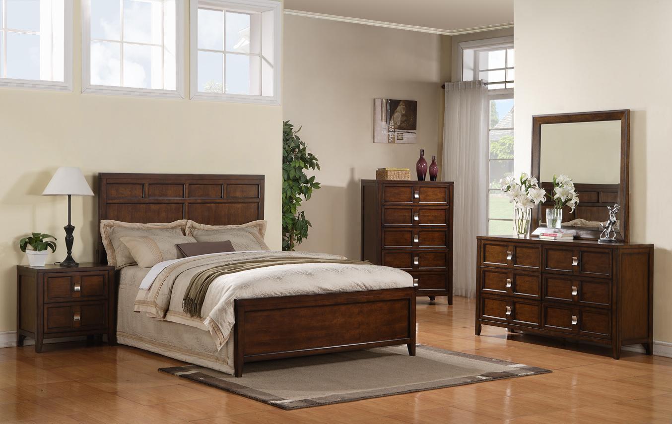 Samuel Lawrence Bayfield Queen Panel Bed, Dresser, Mirror & Nightstan - Item Number: SAMU-GRP-82XX-QNBEDSUIT