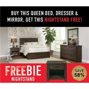 Rutherford Queen Bedroom Group with FREEBIE!