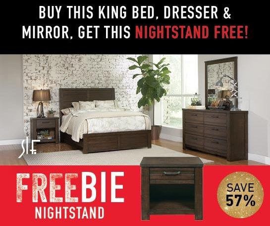 Rutherford Rutherford King Bedroom Group with FREEBIE! by Samuel Lawrence at Morris Home
