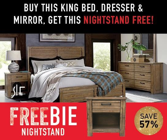 Rutherford King Bedroom Group with FREEBIE!