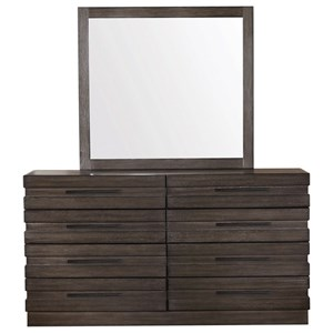 Dresser and Mirror Combination