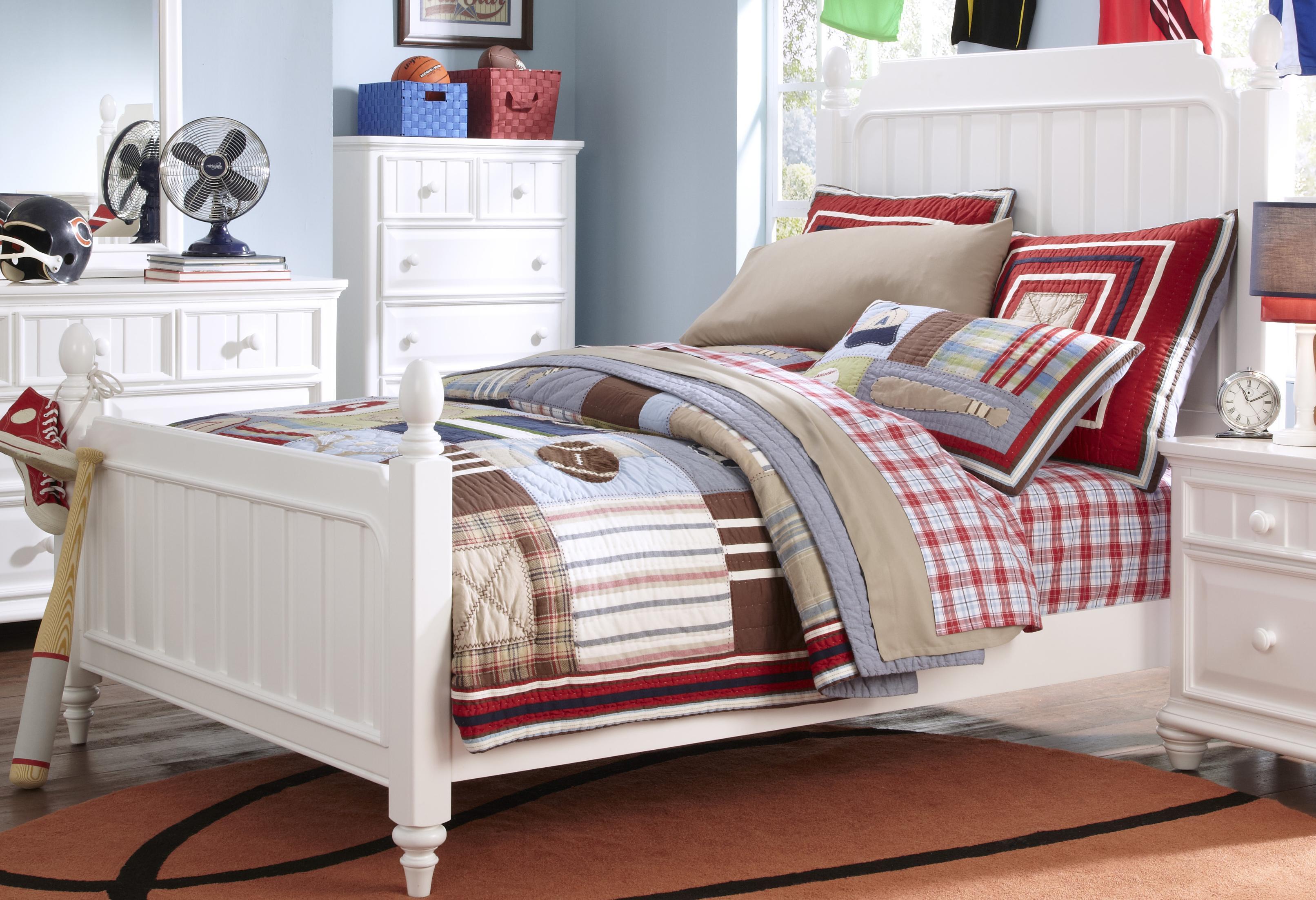 Morris Home Furnishings Shelbourne Shelbourne Twin Poster Bed - Item Number: 8466-401+630+631+643+SLATR-33