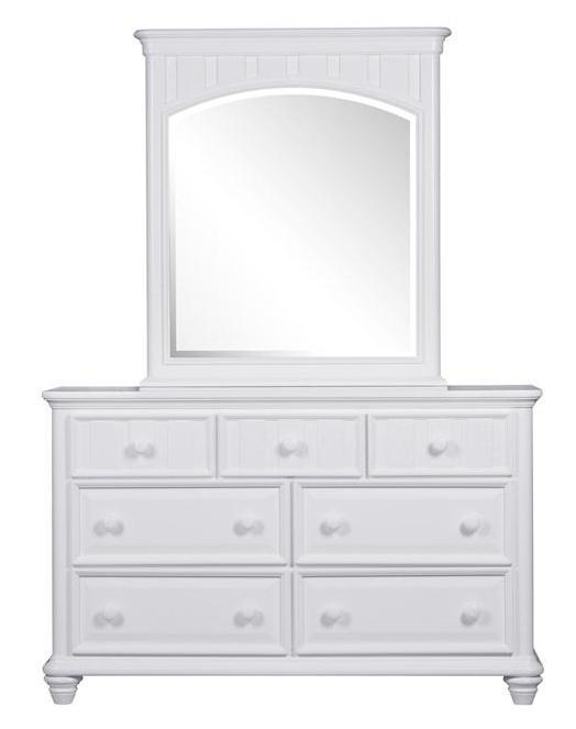 Morris Home Furnishings Shelbourne White 7 Drawer Dresser & Mirror Set - Item Number: 8466-410+430