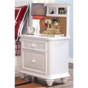 Morris Home Furnishings Shelbourne Shelbourne Nightstand with Back Panel
