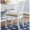 Samuel Lawrence SummerTime Youth White Stationary Task Chair with Turned Front Legs - 8466-452