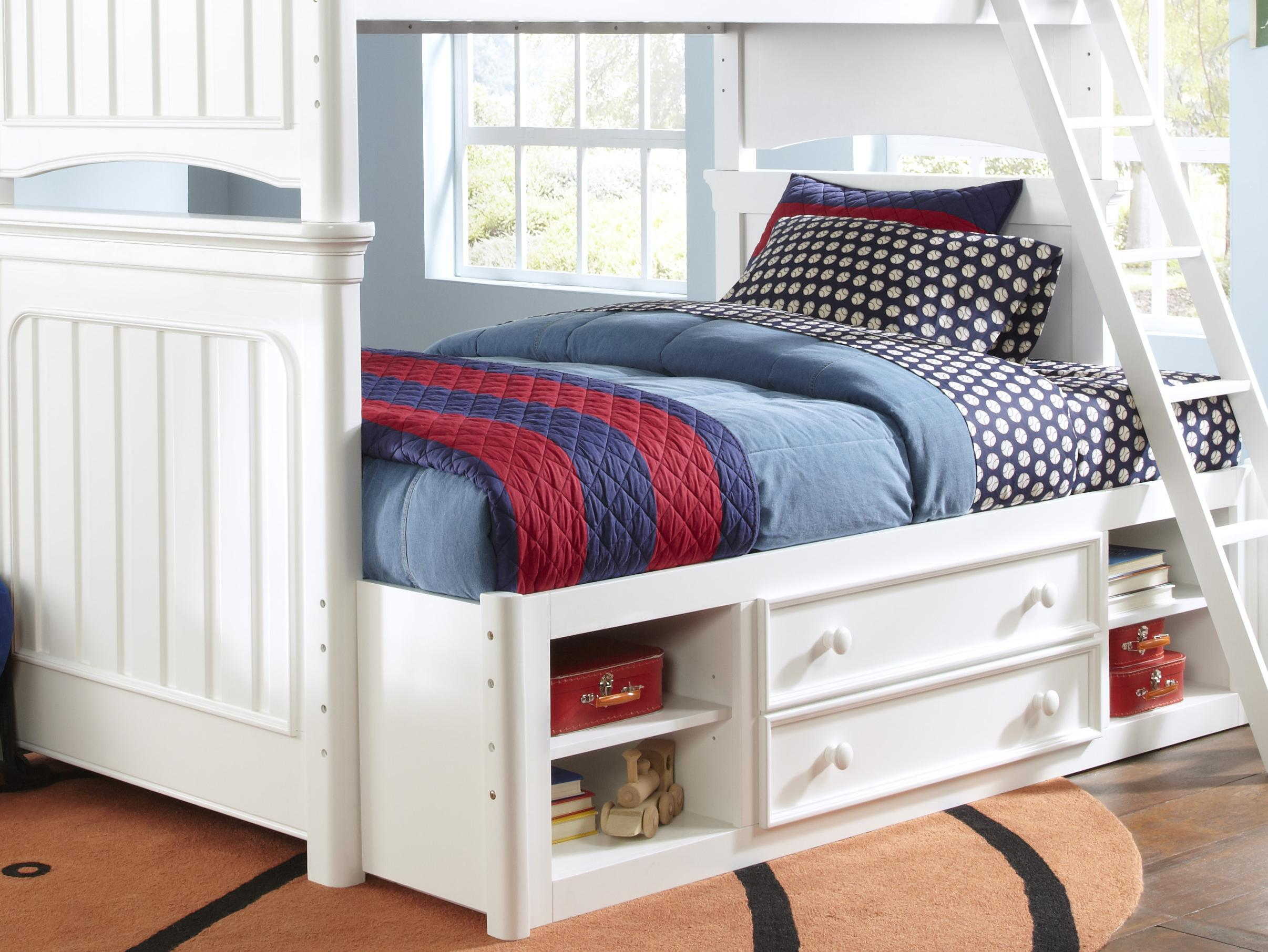 Kidz Gear Campbell Summertime Bunk Bed with Storage - Item Number: 8466-730+732+33+46+731+643+733