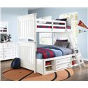 Samuel Lawrence SummerTime Youth White Extended Bunk Bed with Storage - 8466-730+732+33+46+731+643+733