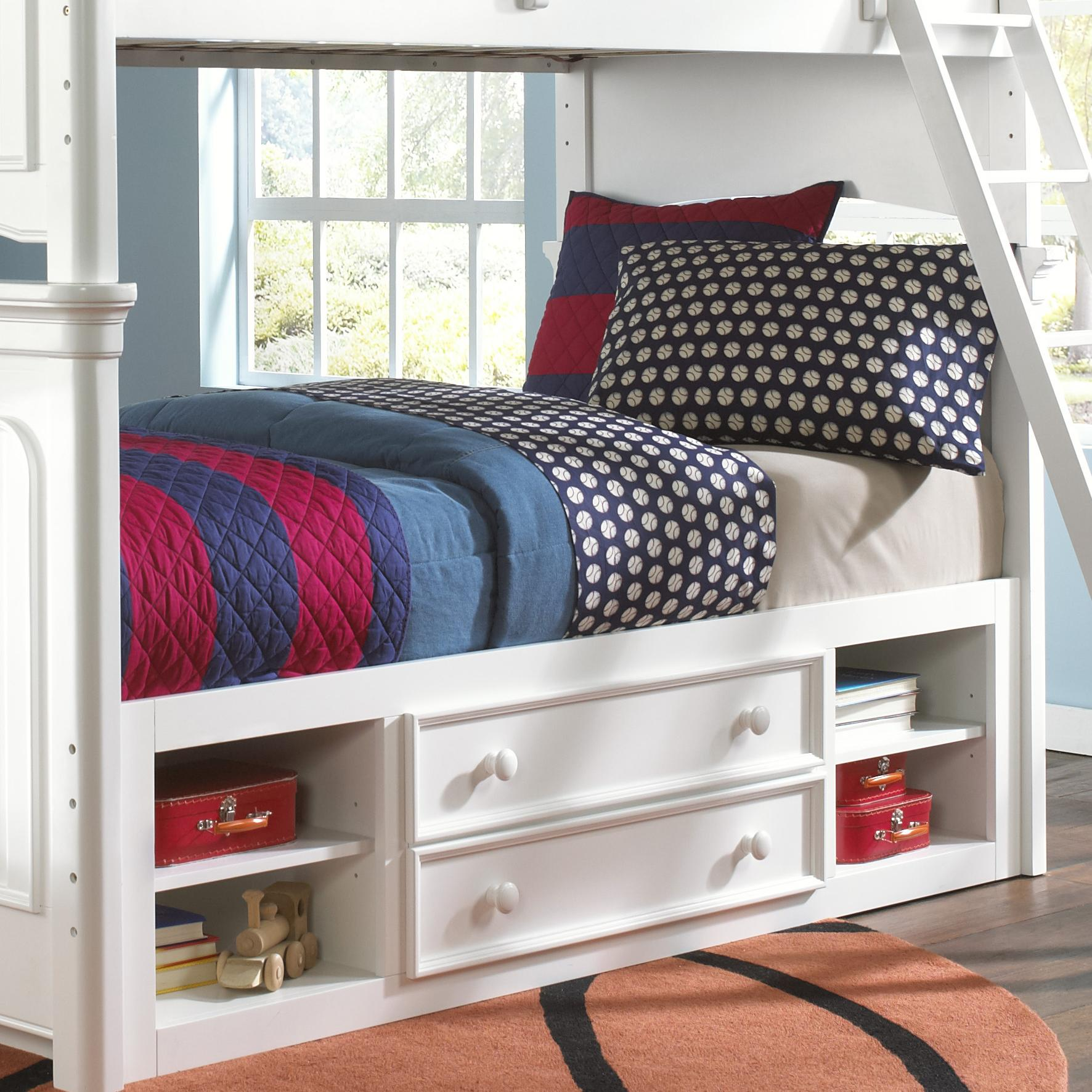 Kidz Gear Campbell Summertime Twin Storage Bunk Bed - Item Number: 8466-730+732+SLATR-33+731+643
