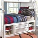 Samuel Lawrence SummerTime Youth White Twin Bunk Bed with Storage - 8466-730+732+SLATR-33+731+643