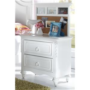 Nightstand with Back Panel
