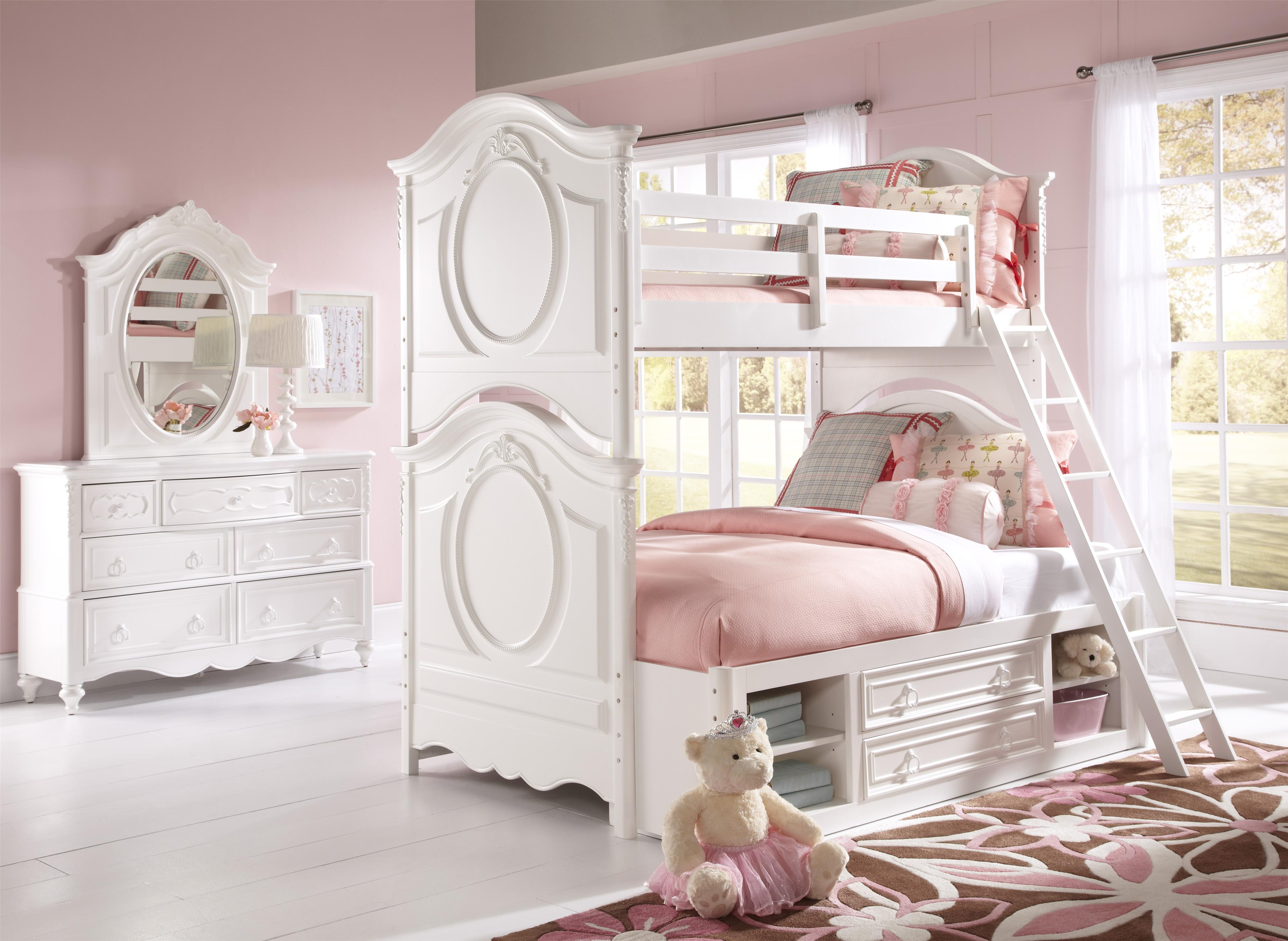 Samuel Lawrence SweetHeart Youth Twin/Full Bunk Bed with Underbed ...