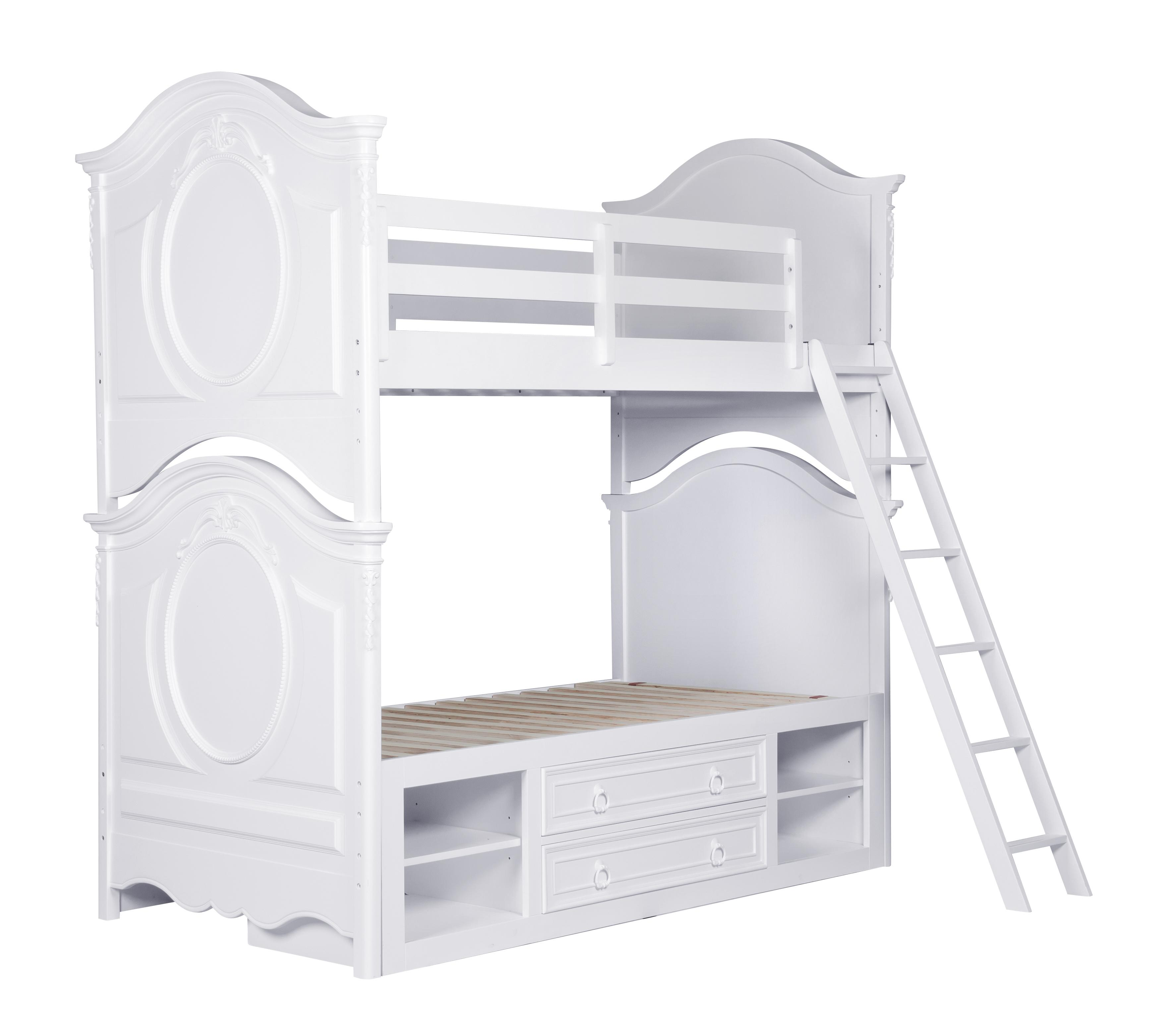 Kidz Gear Eleanor Twin Bunk Bed - Item Number: 8470-730+32+31+643+2x8466-SLATR-33