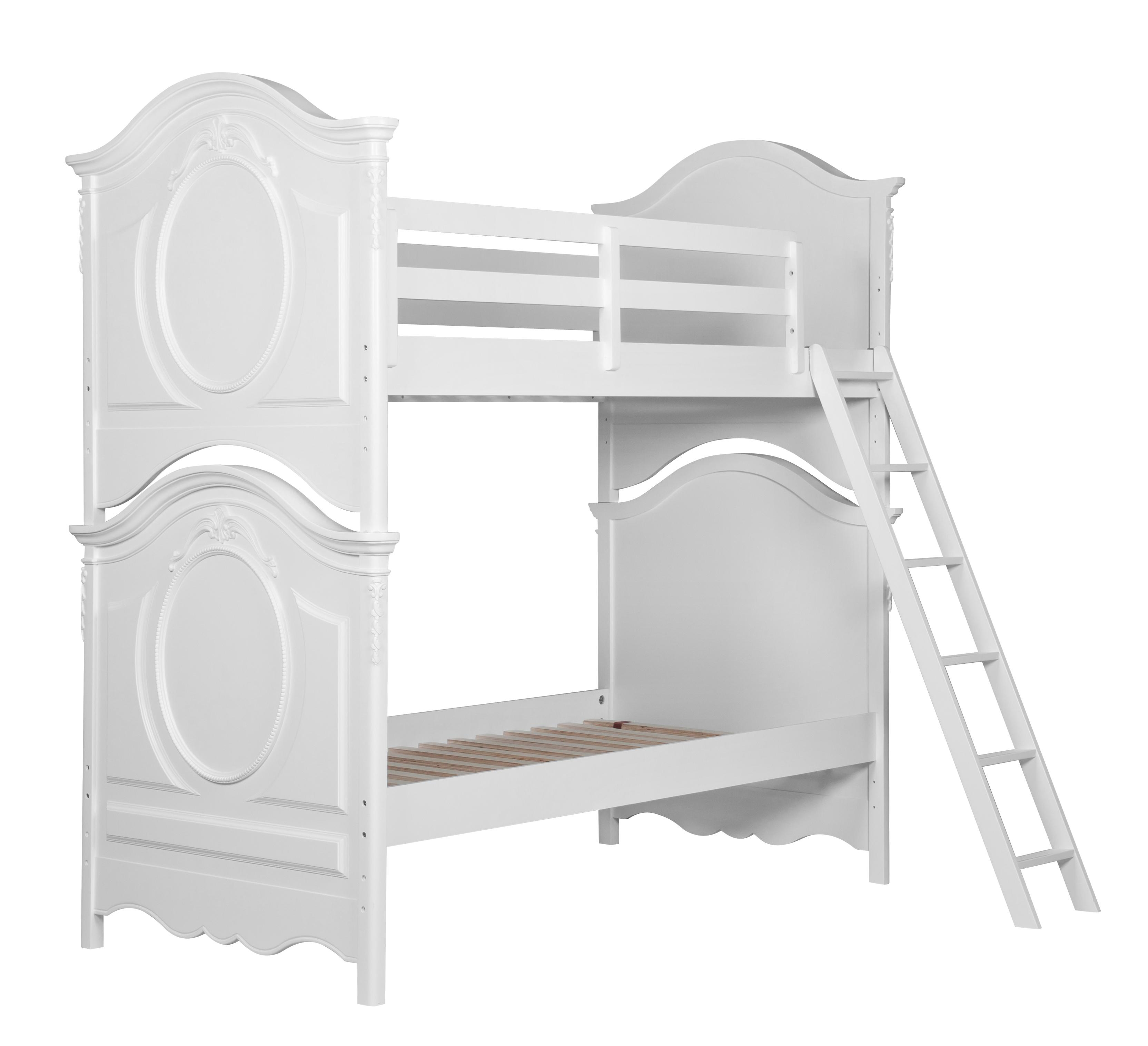 Twin bed top view - Samuel Lawrence Sweetheart Youth Twin Twin Bunk Bed Item Number 8470 730