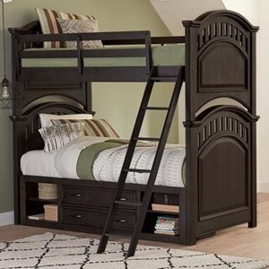 Twin Bunk Bed with Underbed Storage Unit