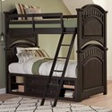 Samuel Lawrence Tundra Twin Bunk Bed with Underbed Storage Unit - Item Number: S384-730+731+732+643+2xSLATR-33