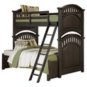 Samuel Lawrence Tundra Twin/Full Bunk Bed - Item Number: S384-730+731+732+733+SLATR-33+46