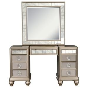 Vanity Desk and Mirror Combination