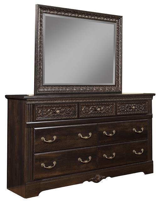 Sandberg Furniture Andorra Dresser and Mirror - Item Number: 35506+10