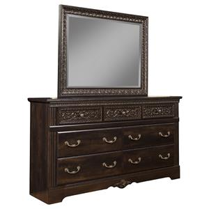Sandberg Furniture Andorra Dresser and Mirror