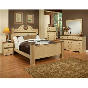 Sandberg Furniture Casa Blanca Queen Bedroom Group