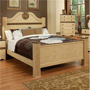 Sandberg Furniture Casa Blanca Queen Estate Bed