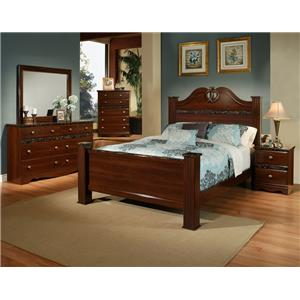 Sandberg Furniture Colina Cal King Bedroom Group