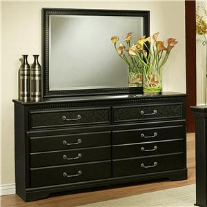 Sandberg Furniture Granada  Dresser & Mirror Set
