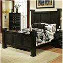 Sandberg Furniture Granada  California King Estate Bed w/ Sqaure Posts - Bed Shown May Not Represent Size Indicated