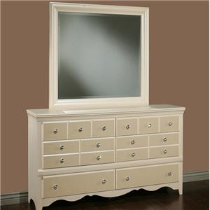 Sandberg Furniture Marilyn Dresser and Mirror
