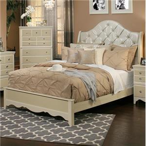 Sandberg Furniture Marilyn Cal King Upholstered Bed