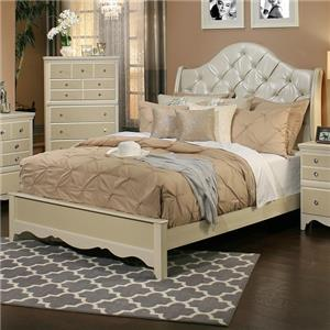 Sandberg Furniture Marilyn King Upholstered Bed