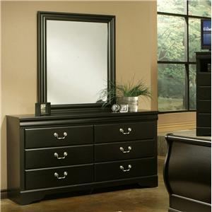 Sandberg Furniture Regency Dresser & Mirror Set