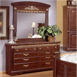 Sandberg Furniture Renaissance Marble Dresser & Mirror Set