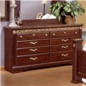 Sandberg Furniture Renaissance Marble Dresser - Item Number: 17406