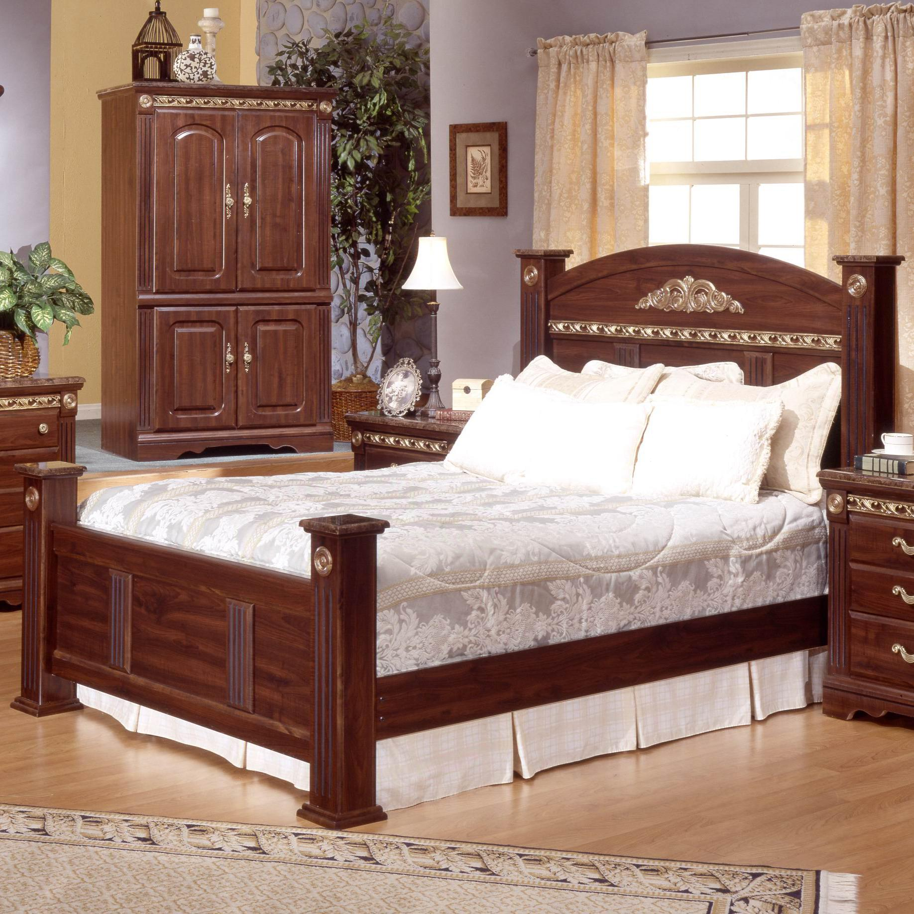 Sandberg Furniture Renaissance Marble King Estate Bed - Item Number: 17418H+F+17466R
