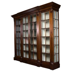 15 Shelf Cadenza Breakfront Closed Bookcase