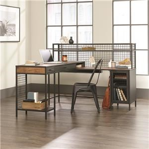 L Shaped Industrial Desk