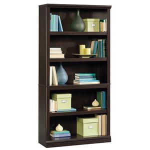 5-Shelf Bookcase with Elegant Slide-On Molding
