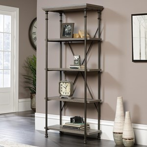 Sauder Canal Street 5-Shelf Bookcase