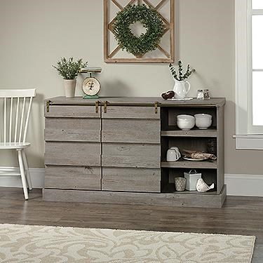 Cannery Bridge Credenza by Sauder at Darvin Furniture