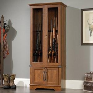 Sauder Carson Forge Gun Display Cabinet