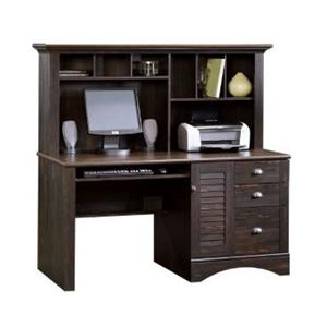 Sauder Harbor View Computer Desk With Hutch