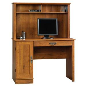 Sauder Harvest Mill Single Pedestal Computer Desk With Hutch