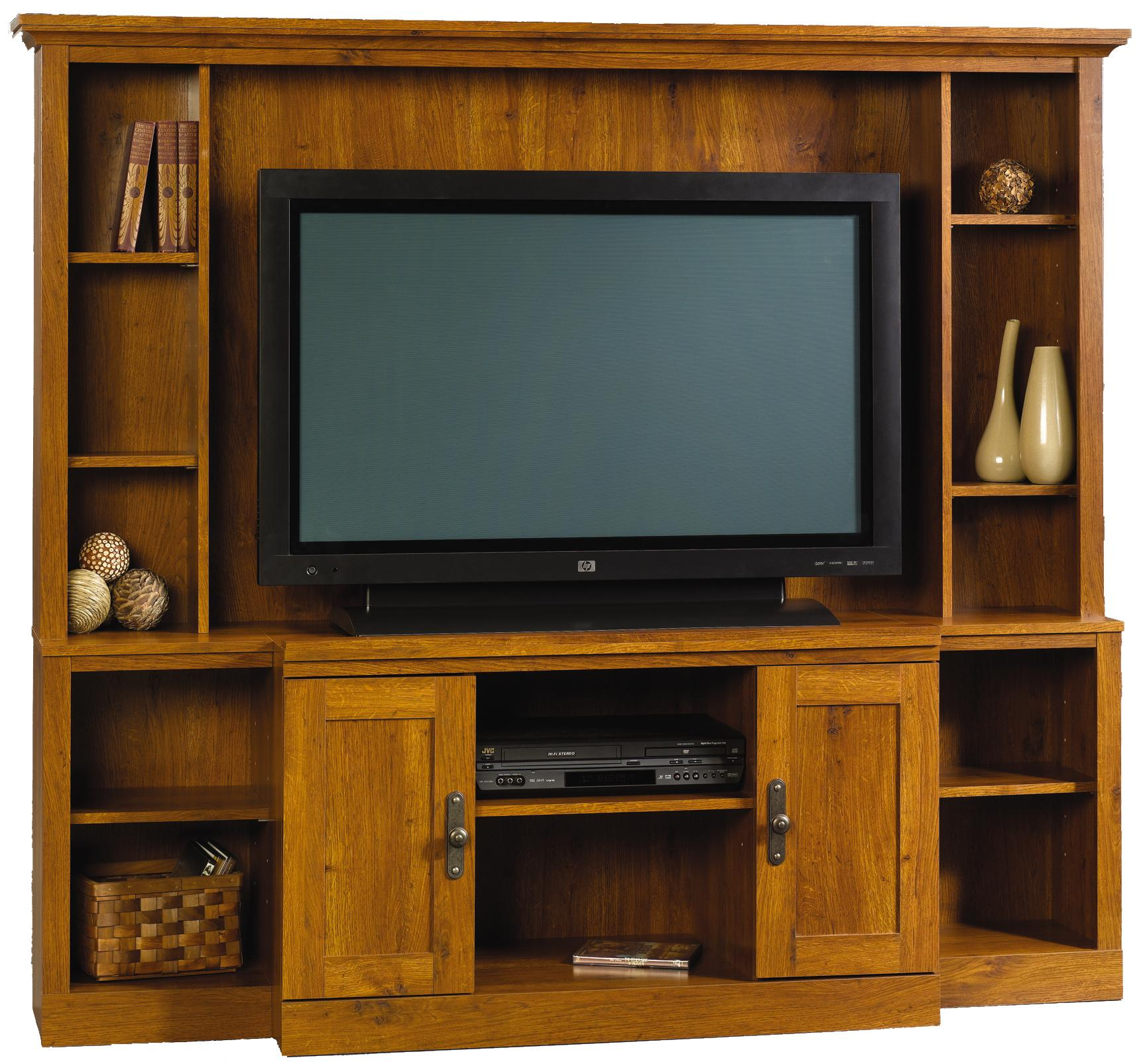 SAUDER Cottage Road Soft White Entertainment Center 416080 ...