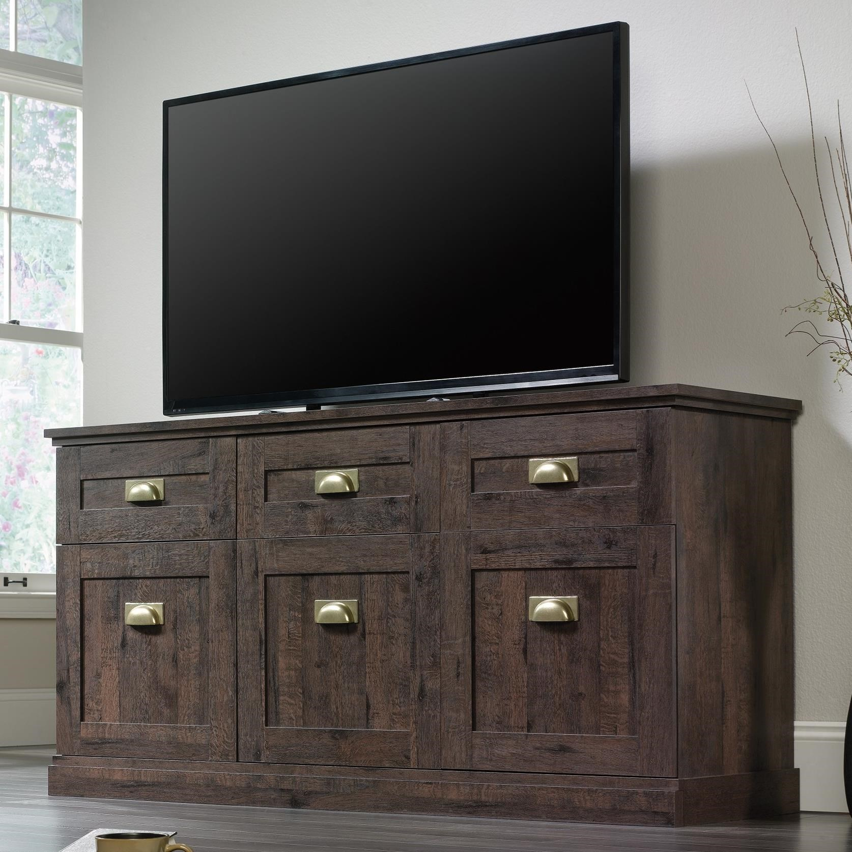Furniture For Tv Components: Sauder New Grange 419142 Entertainment Credenza With Flip