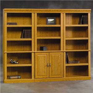 Sauder Orchard Hills 3 Pc. Library Bookcase Wall