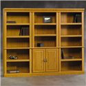 Sauder Orchard Hills 3 Pc. Library Bookcase Wall - Item Number: 2x402712+402173