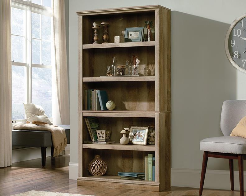 5-Shelf Bookcase (Lintel Oak)