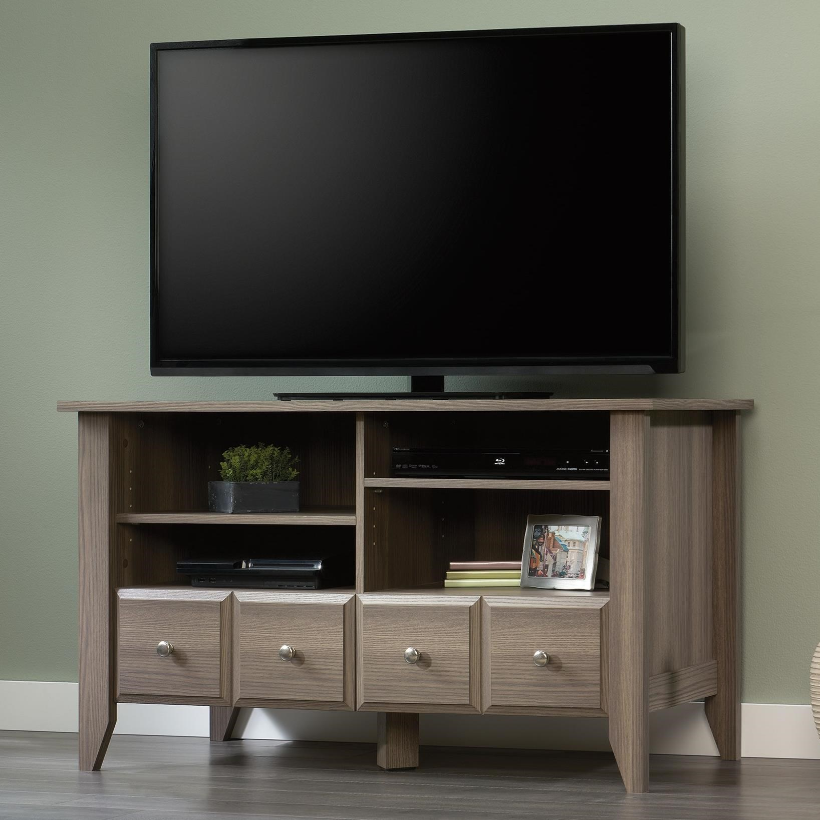 Levitz Home Furnishings: Sauder Shoal Creek 418655 TV Stand With Adjustable Shelves