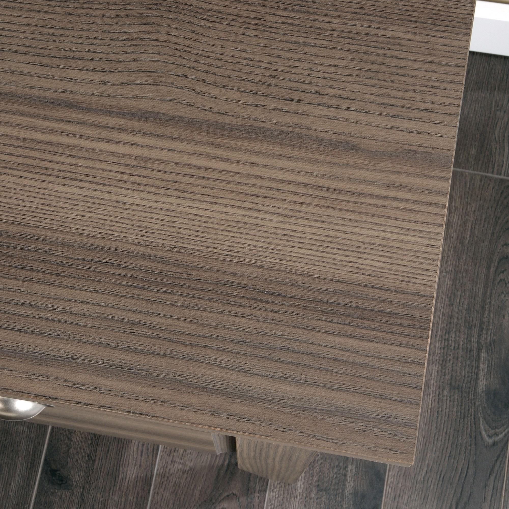 Sauder Shoal Creek 418657 Desk With Keyboard Drawer Becker Furniture World Single Pedestal Desks